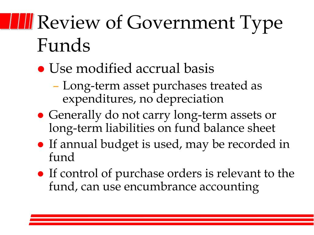 governmental funds Bs&a fund accounting class i 1 the accounting equation and key terms to know assets = liabilities + fund equity assets according to fasb concepts statement no 6.