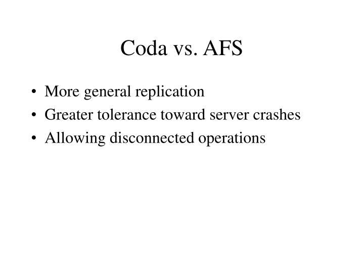 Coda vs. AFS