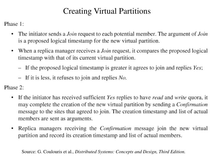 Creating Virtual Partitions