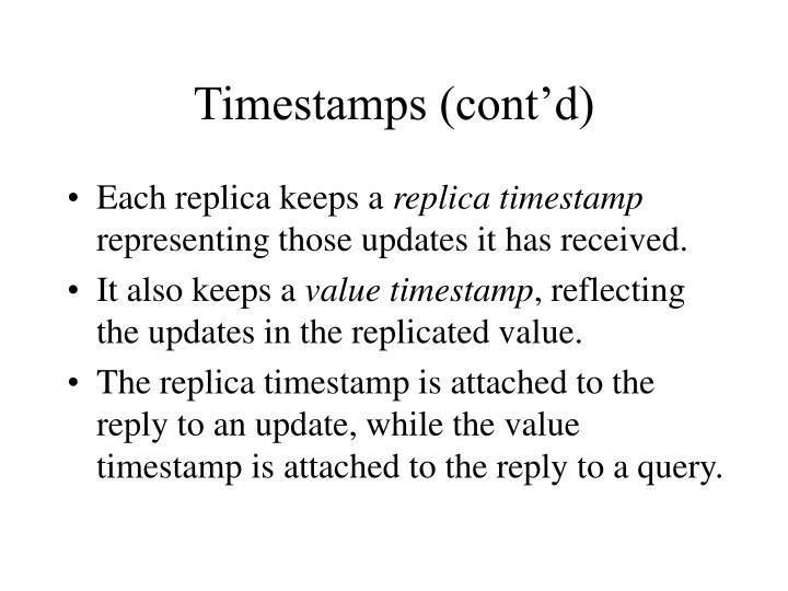 Timestamps (cont'd)