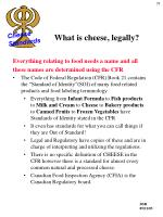 what is cheese legally