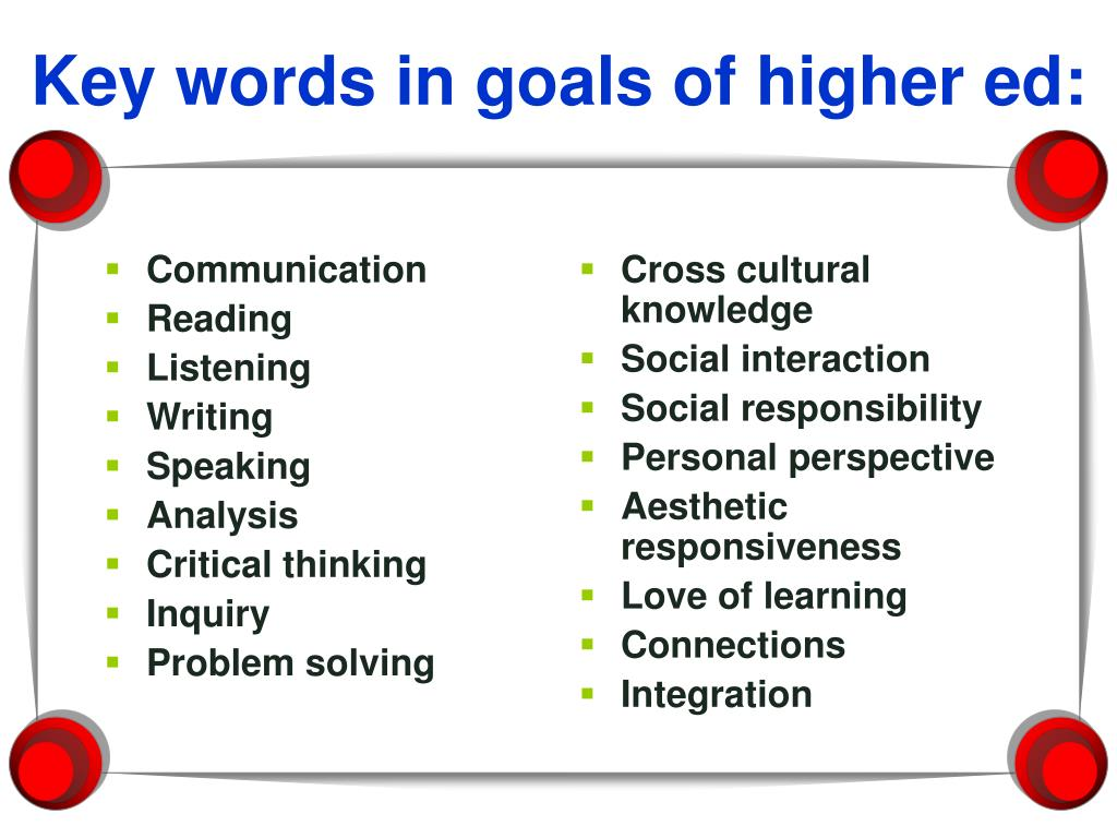 critical thinking learning goals Engaging critical thinking a learning goal is posted on the white- engaging critical thinking skills with learners of the special populations.