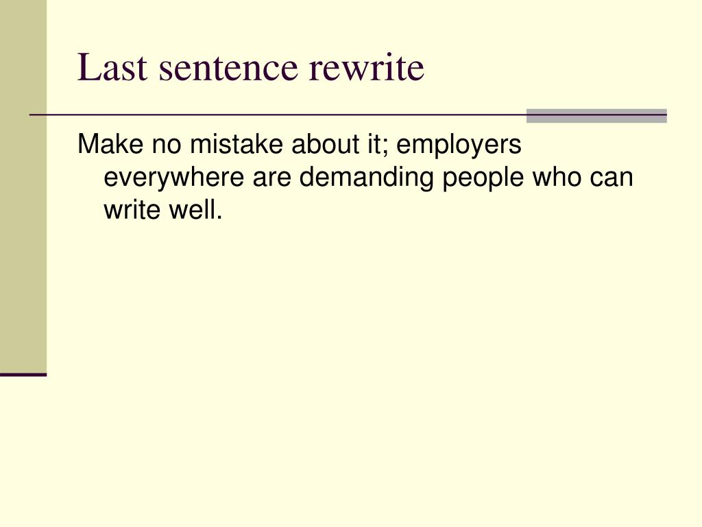 Last sentence rewrite