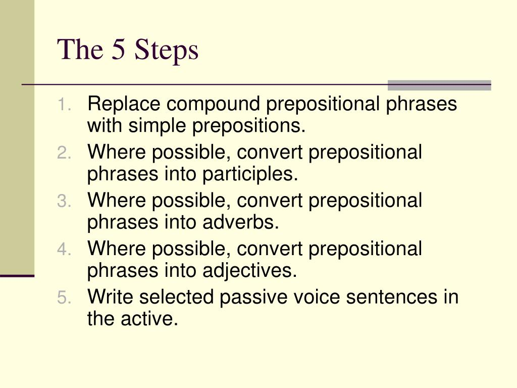 The 5 Steps