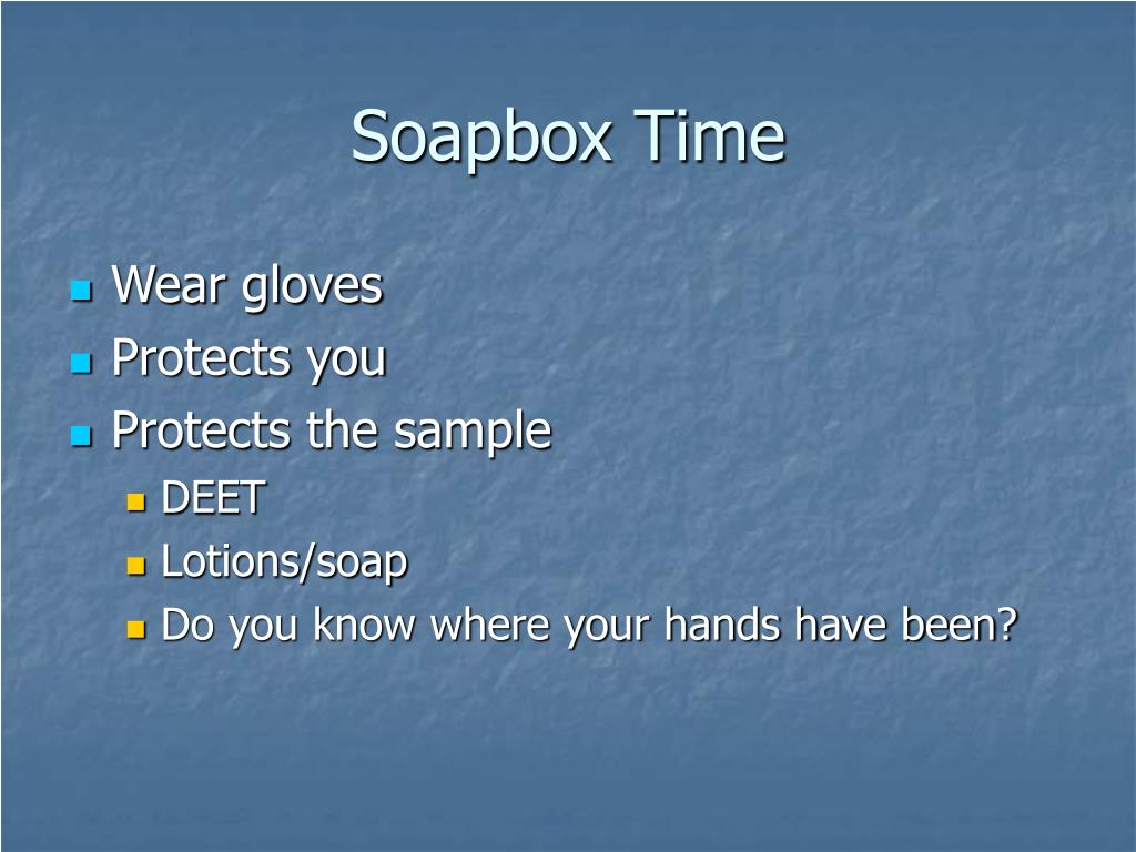 Soapbox Time
