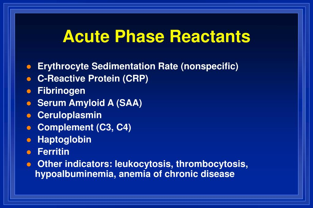 Acute Phase Reactants