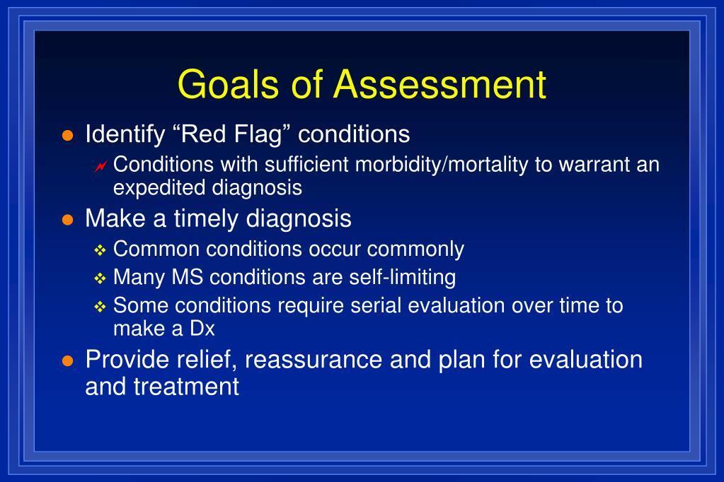 Goals of Assessment