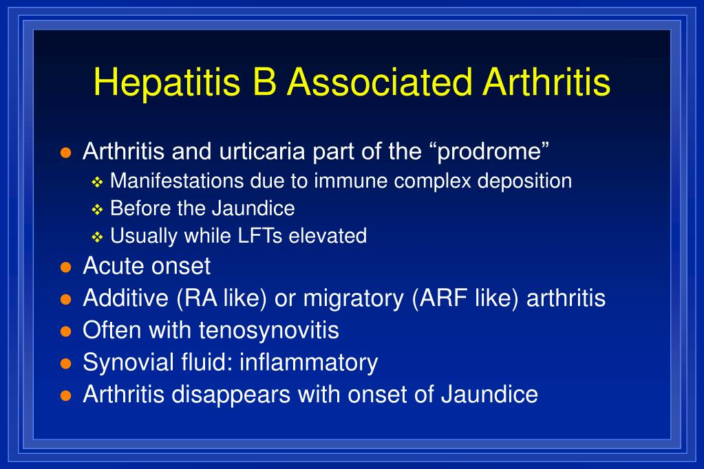 Hepatitis B Associated Arthritis