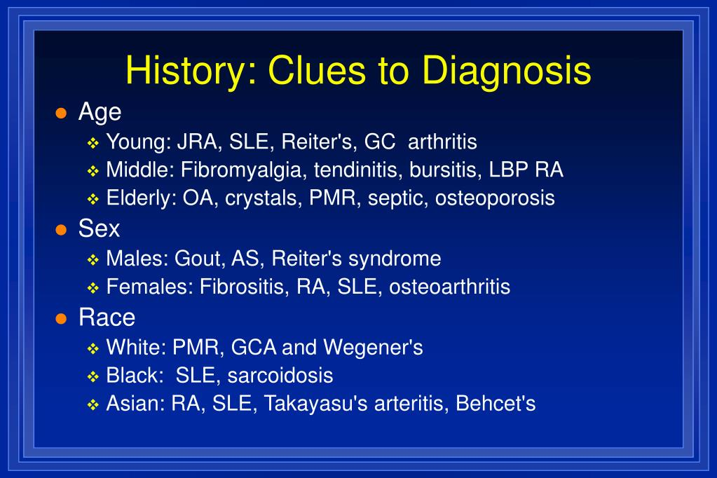 History: Clues to Diagnosis
