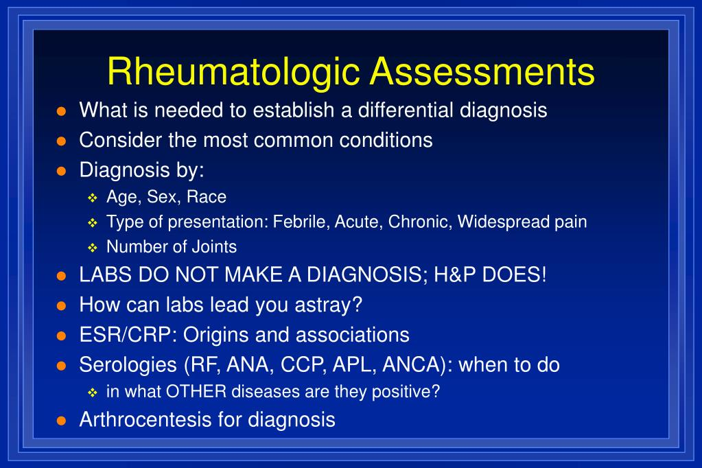 Rheumatologic Assessments