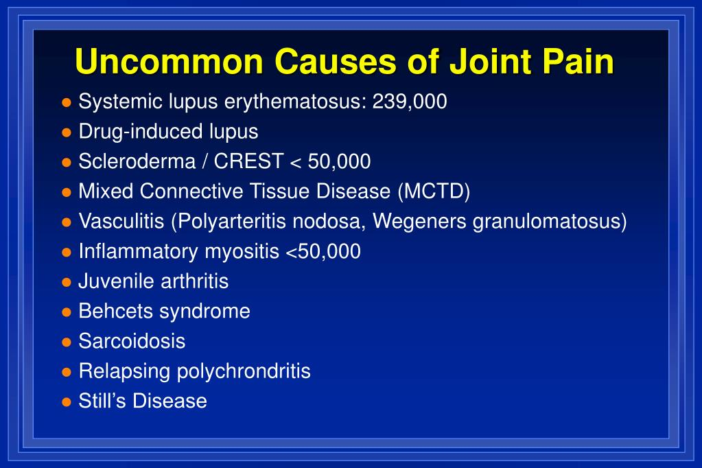 Uncommon Causes of Joint Pain