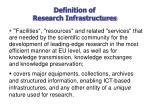 definition of research infrastructures