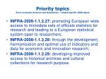 priority topics socio economic sciences and humanities related specific 2008 object