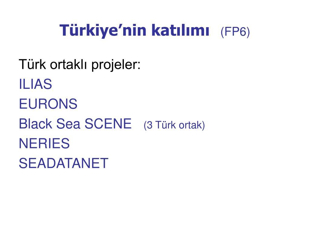 Türkiye'nin katılımı