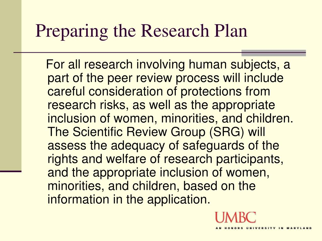 Preparing the Research Plan
