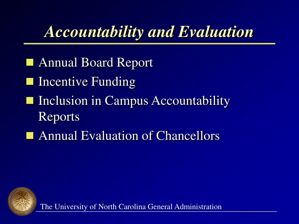Accountability and Evaluation