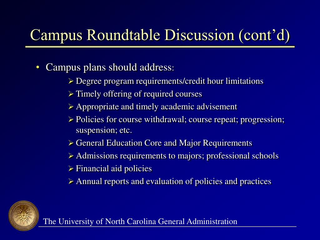 Campus Roundtable Discussion (cont'd)