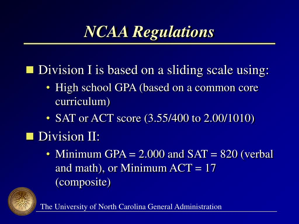 NCAA Regulations