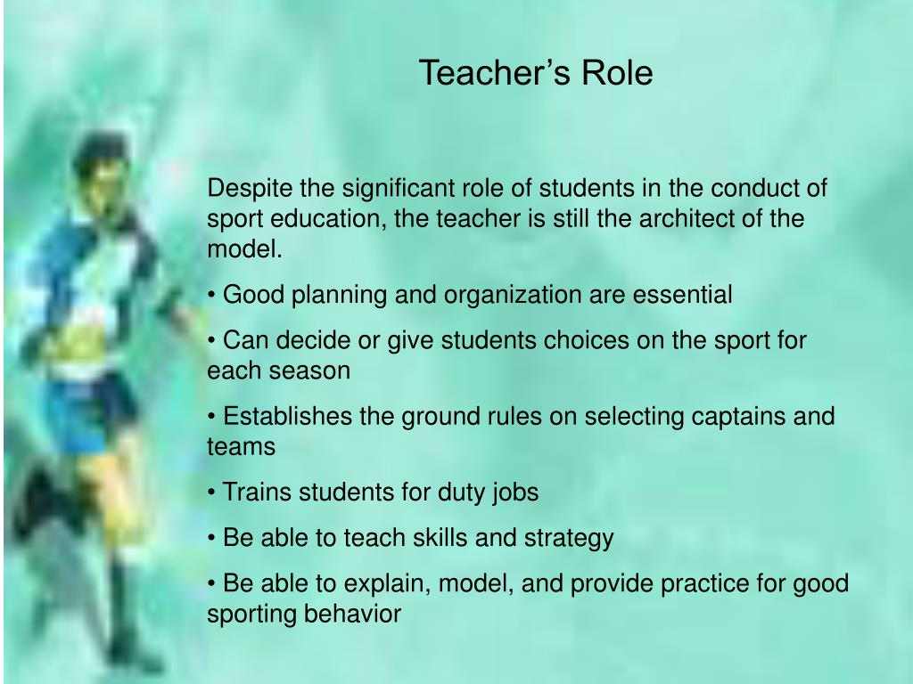 Teacher's Role