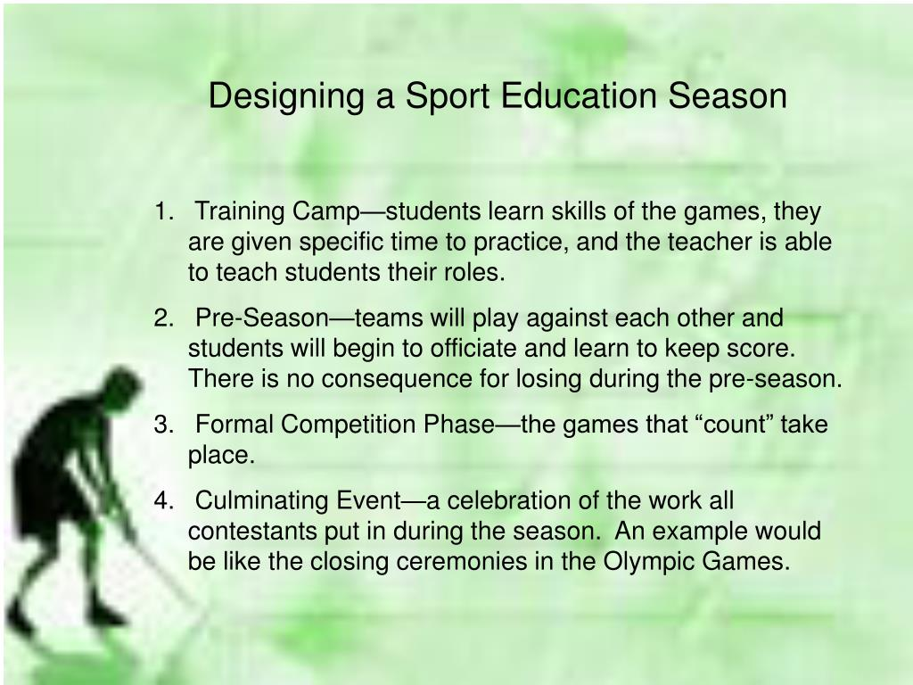 Designing a Sport Education Season