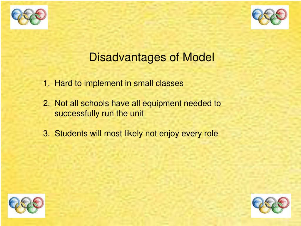 Disadvantages of Model