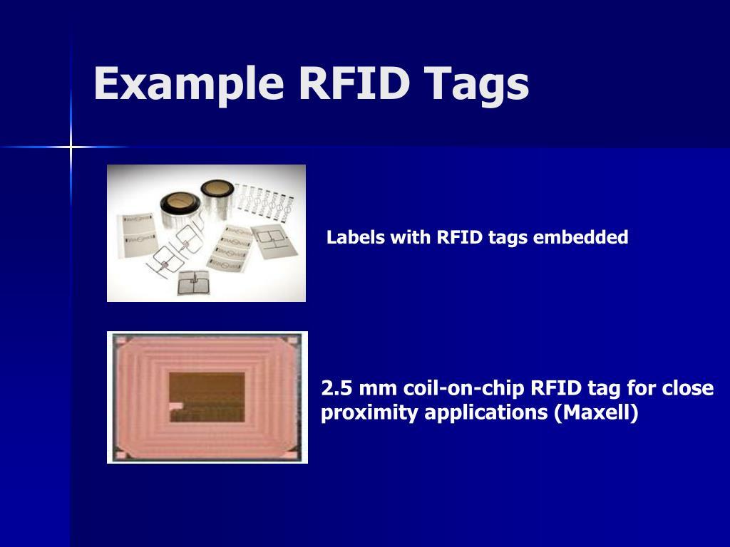 Example RFID Tags