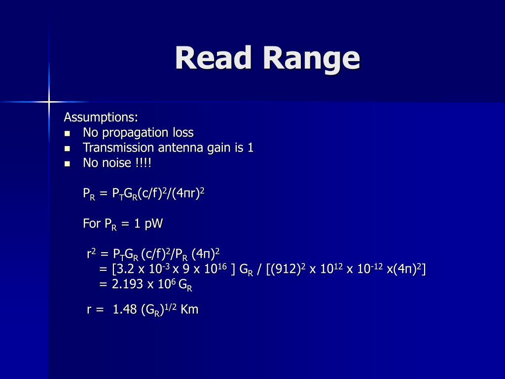 Read Range