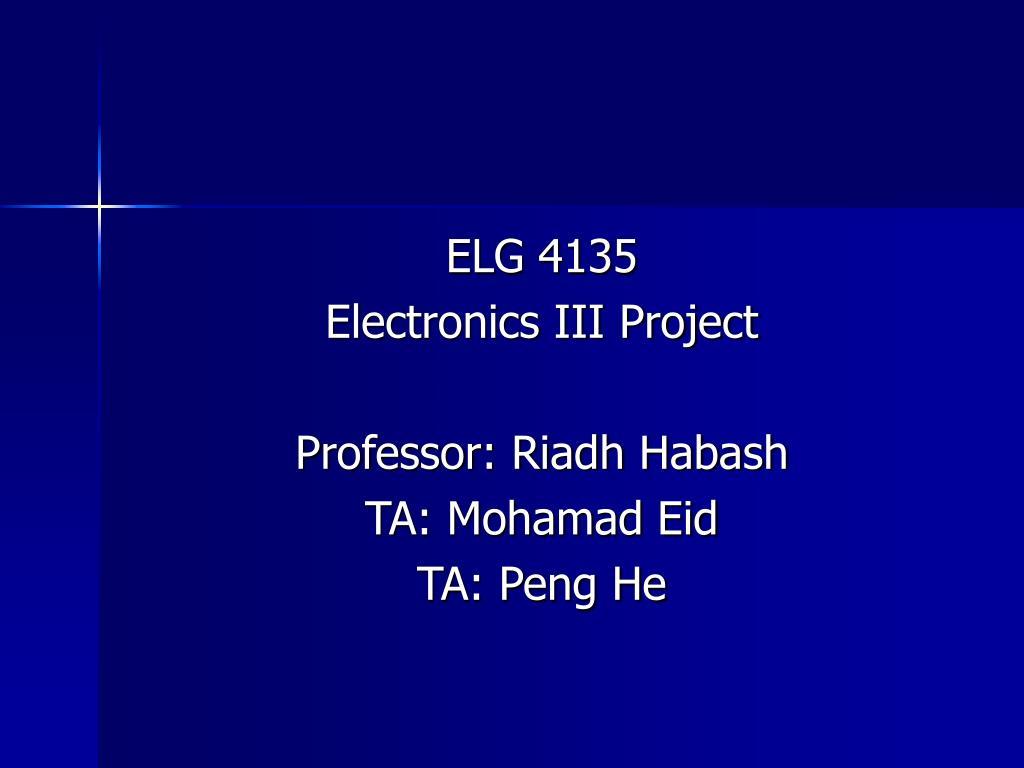 ELG 4135