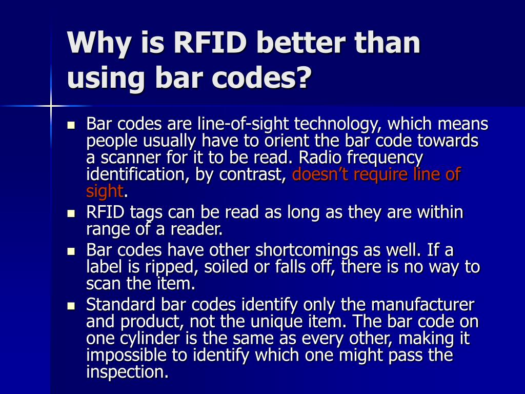 Why is RFID better than using bar codes?