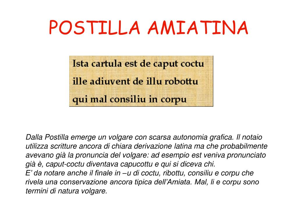 POSTILLA AMIATINA