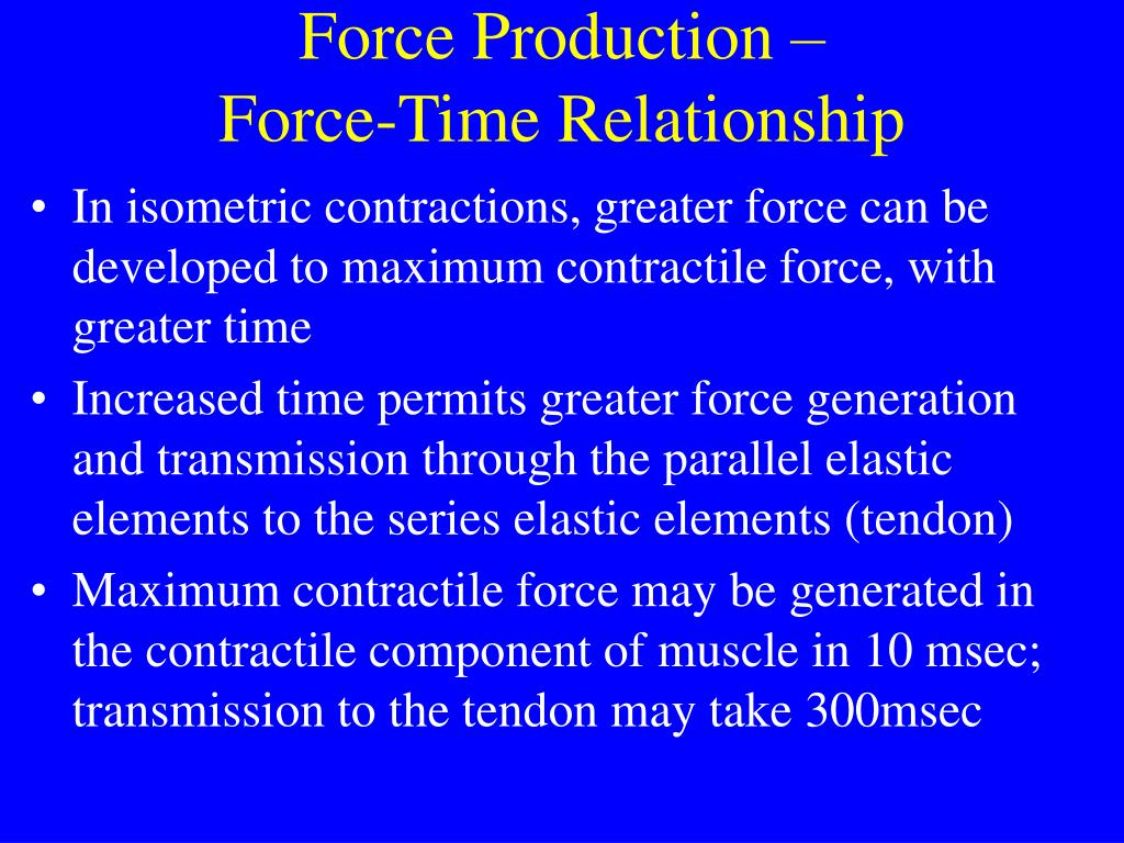 Force Production –