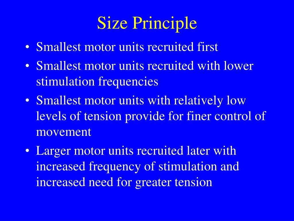 Size Principle