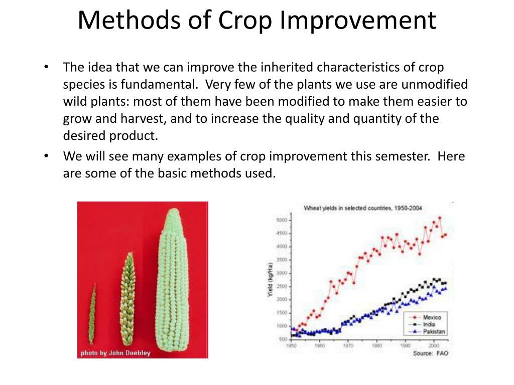 Methods of Crop Improvement