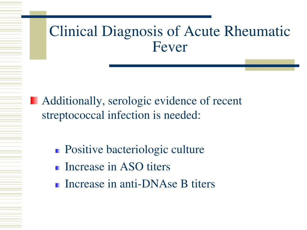 Clinical Diagnosis of Acute Rheumatic Fever