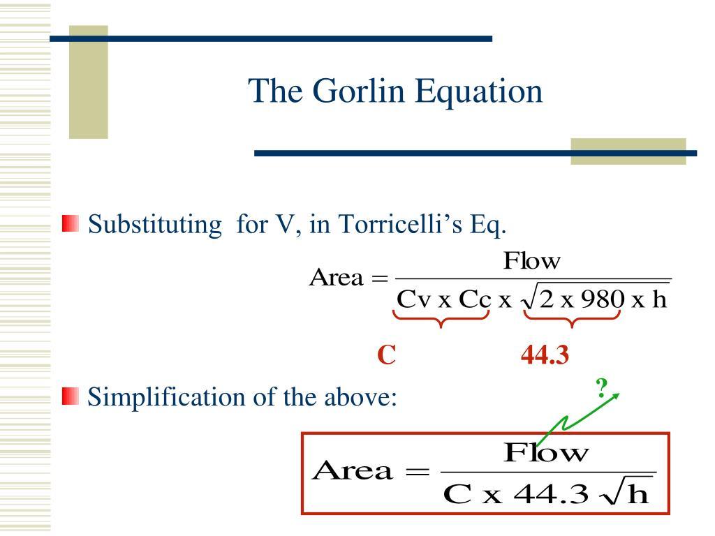 The Gorlin Equation