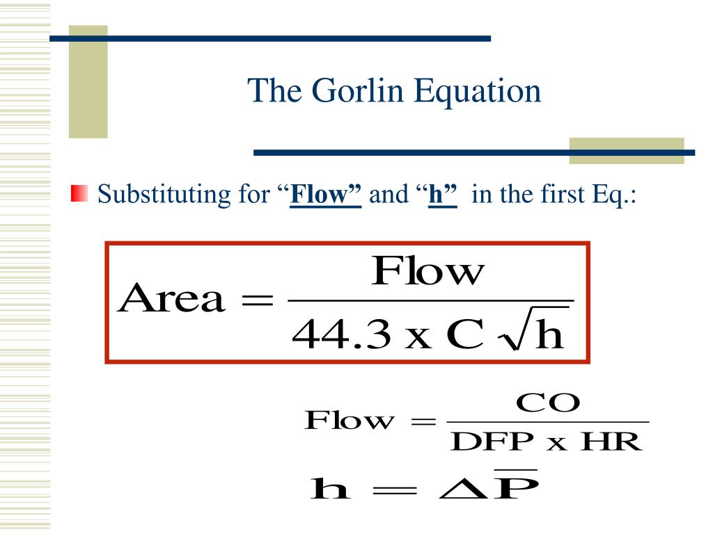 The Gorlin Equation