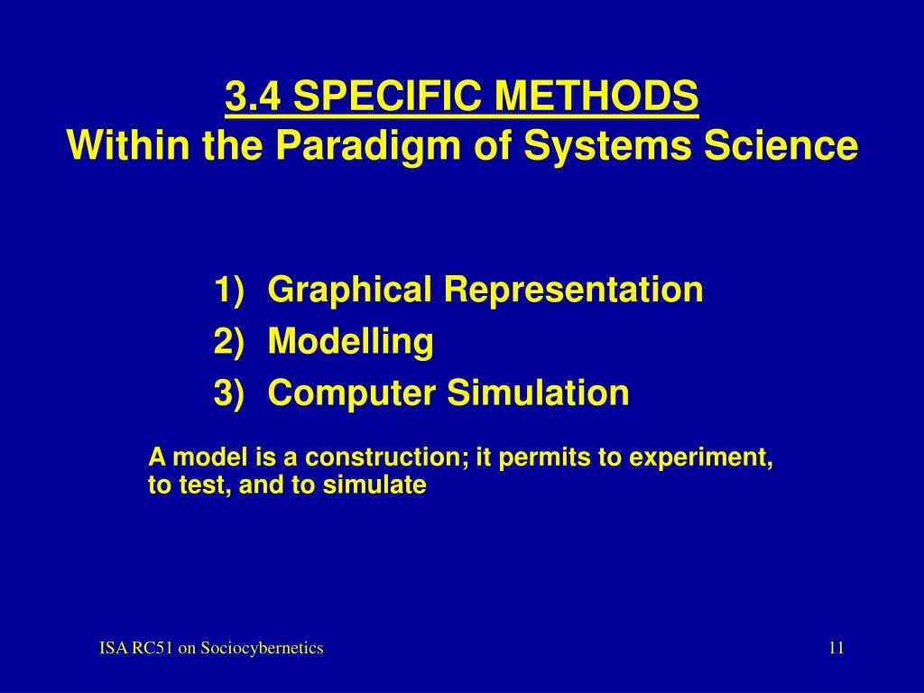 3.4 SPECIFIC METHODS