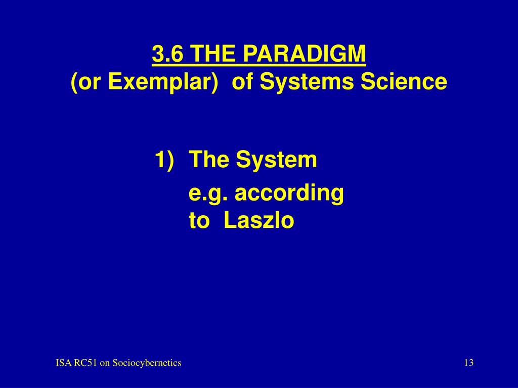 3.6 THE PARADIGM
