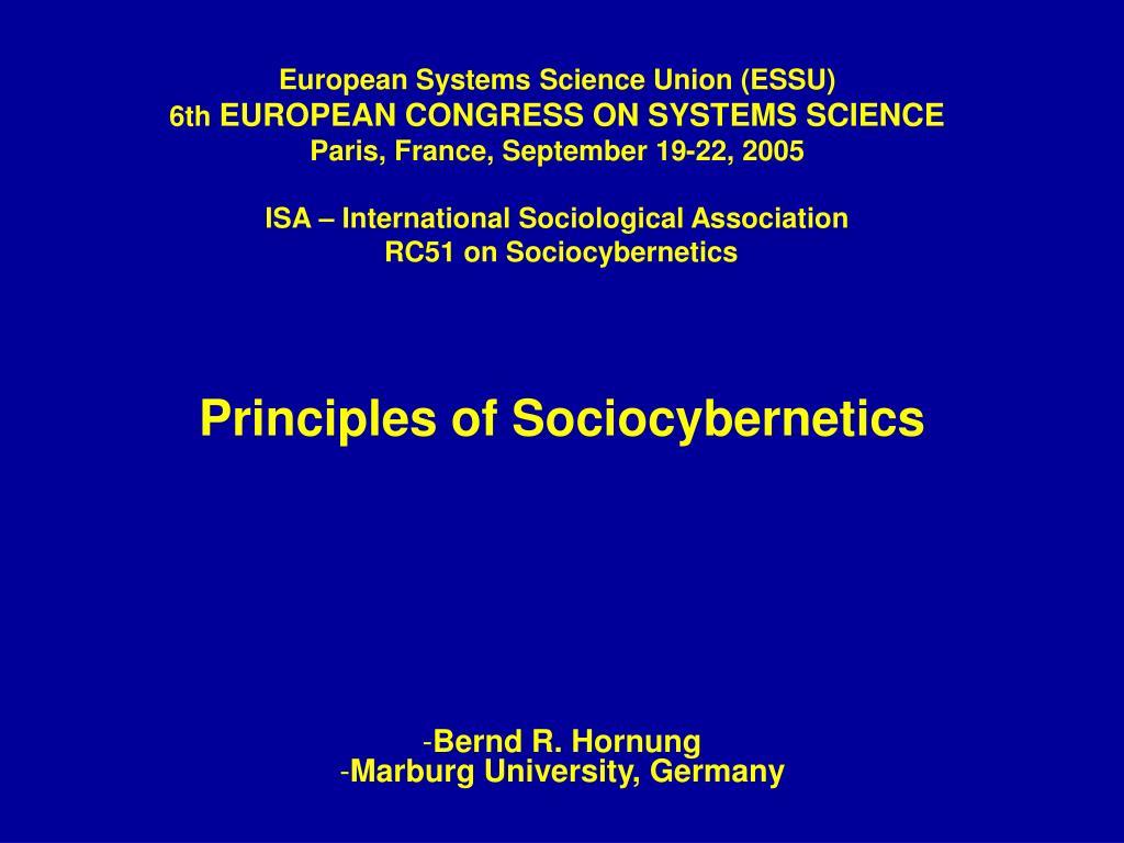 European Systems Science Union (ESSU)