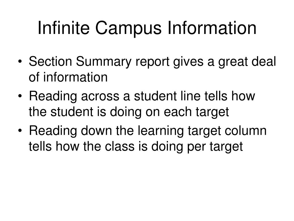 Infinite Campus Information
