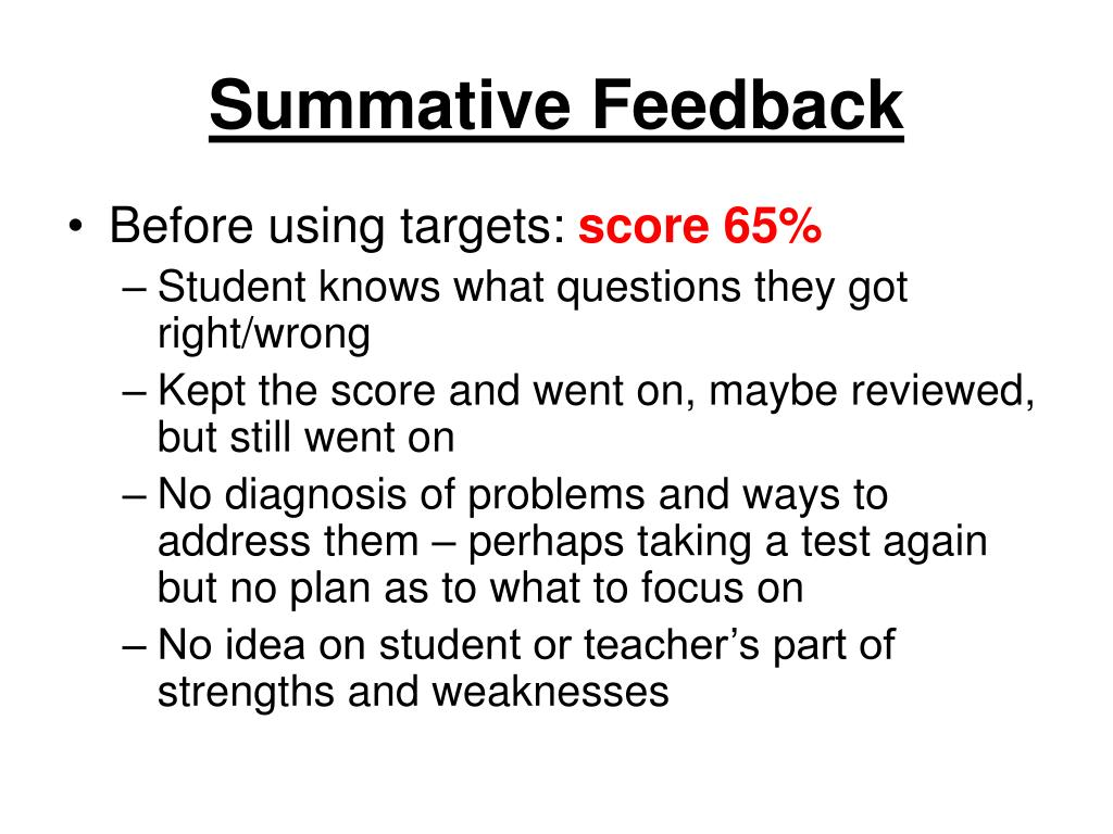 Summative Feedback