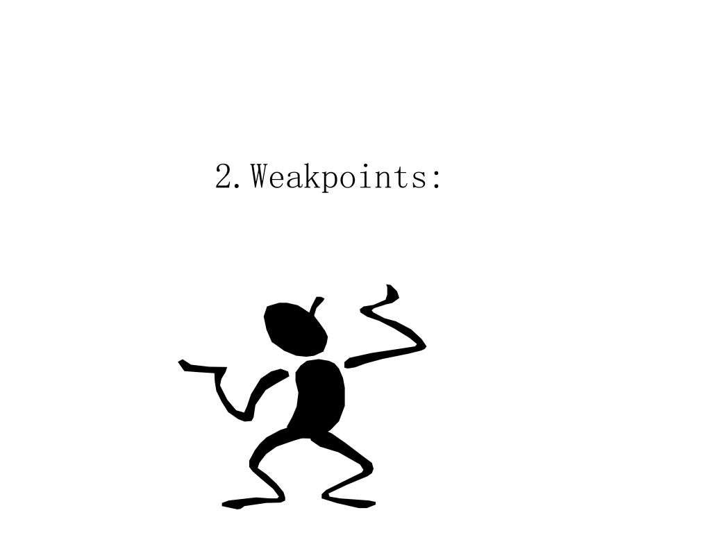 2.Weakpoints: