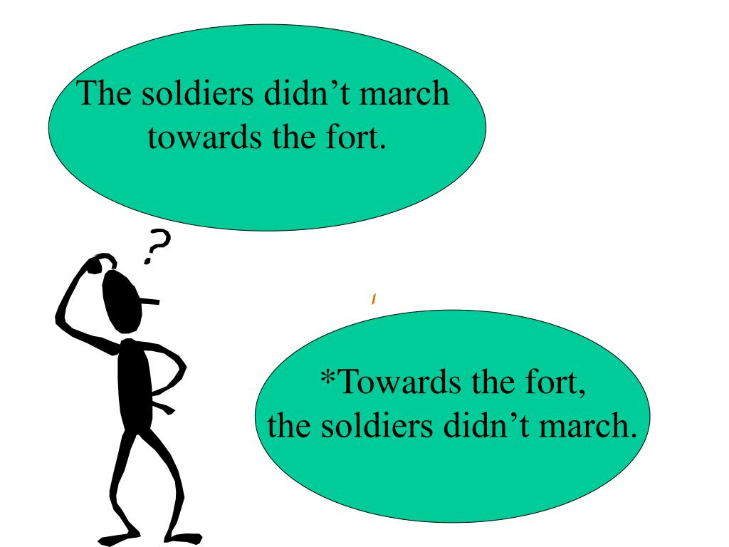 The soldiers didn't march