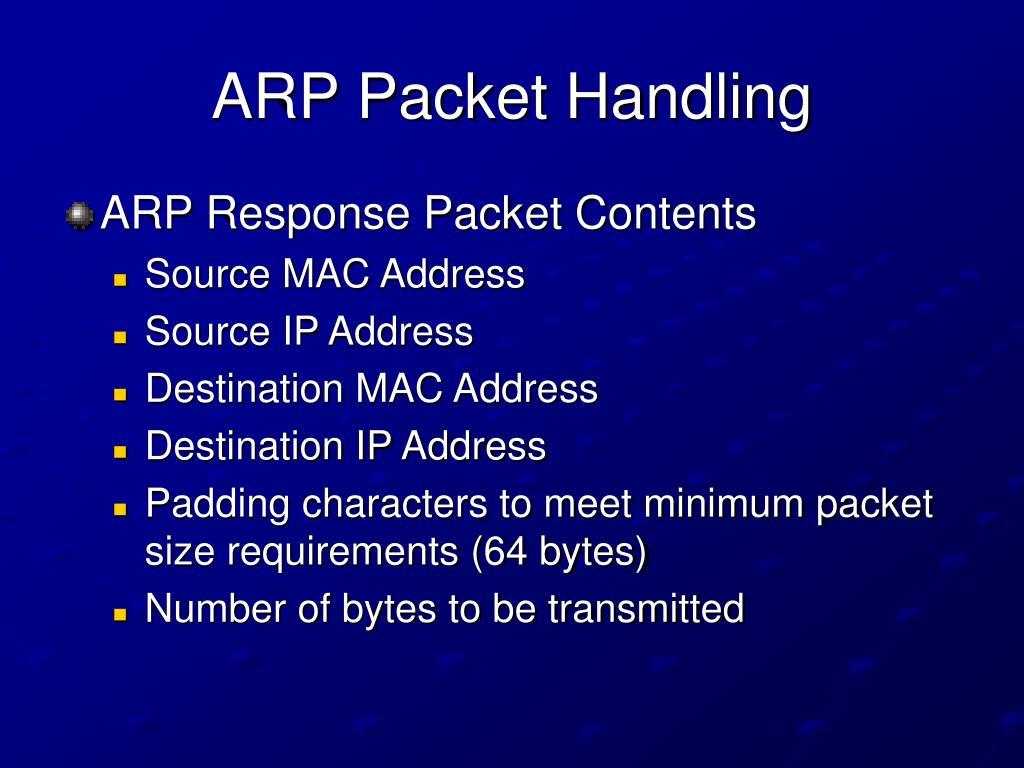 ARP Packet Handling