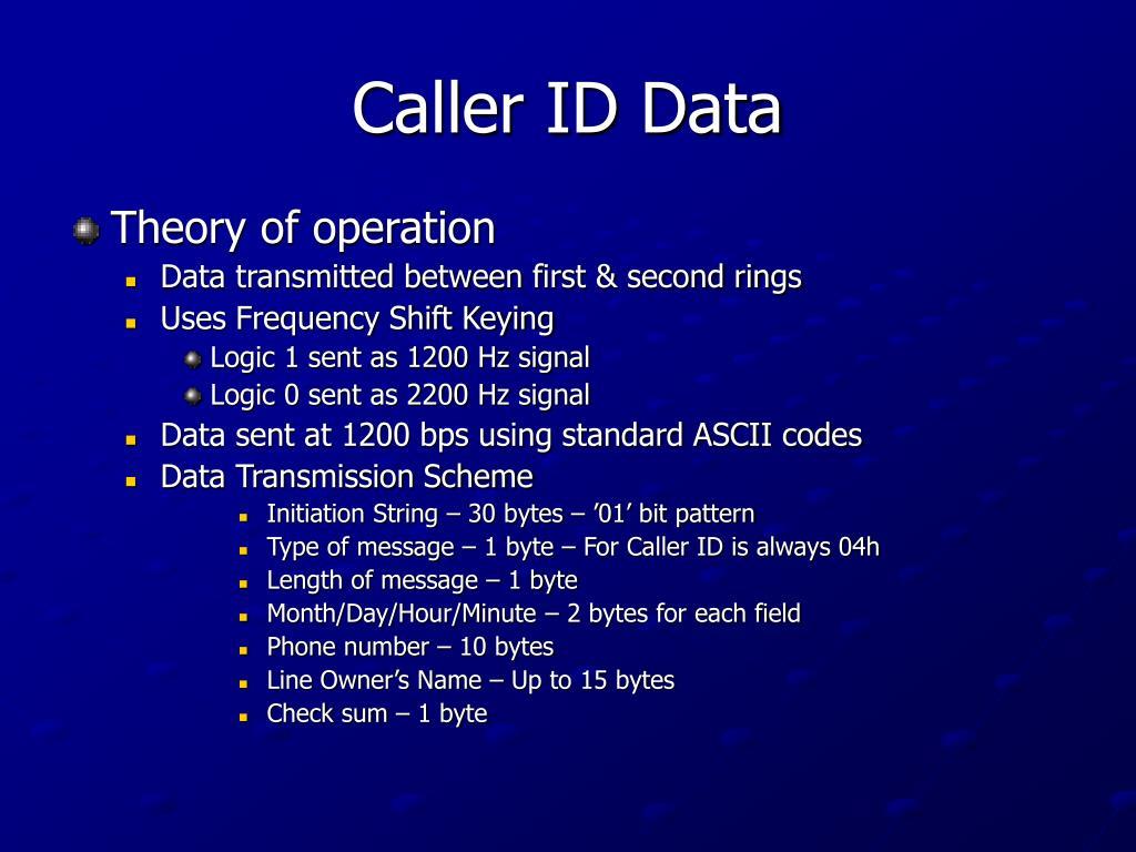 Caller ID Data
