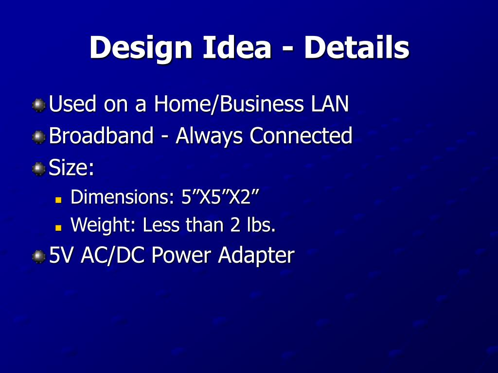 Design Idea - Details