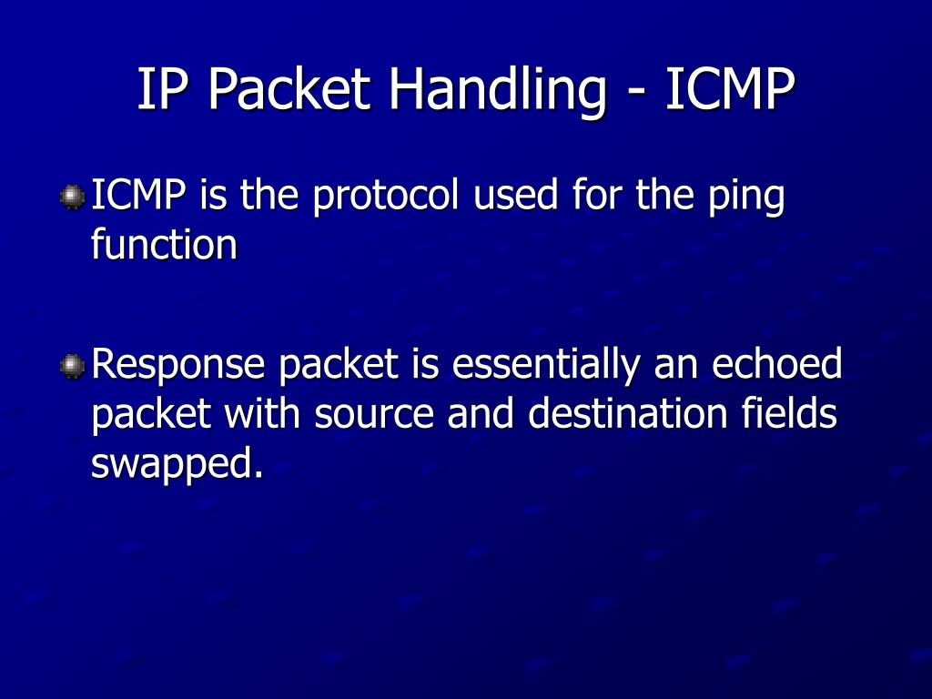 IP Packet Handling - ICMP