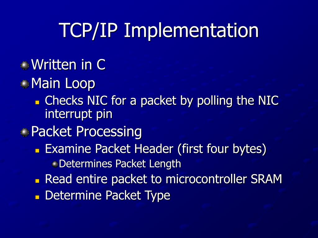 TCP/IP Implementation