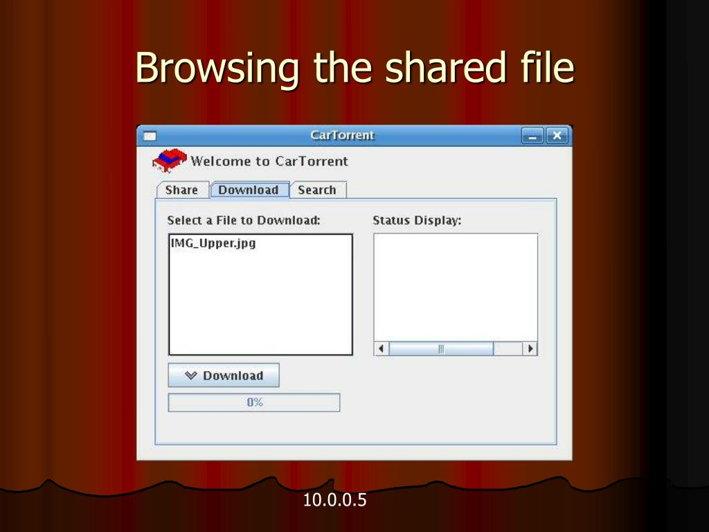 Browsing the shared file
