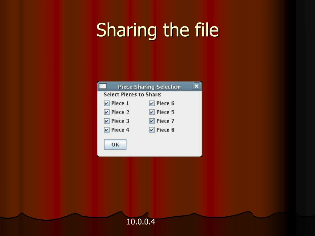 Sharing the file